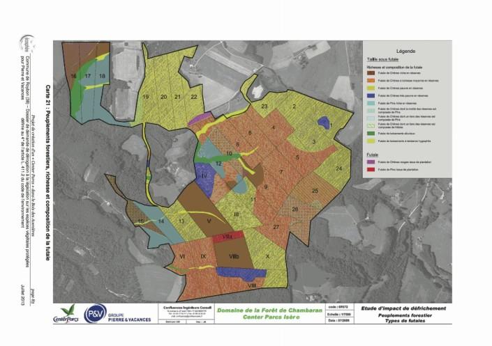Carte peuplements forestiers